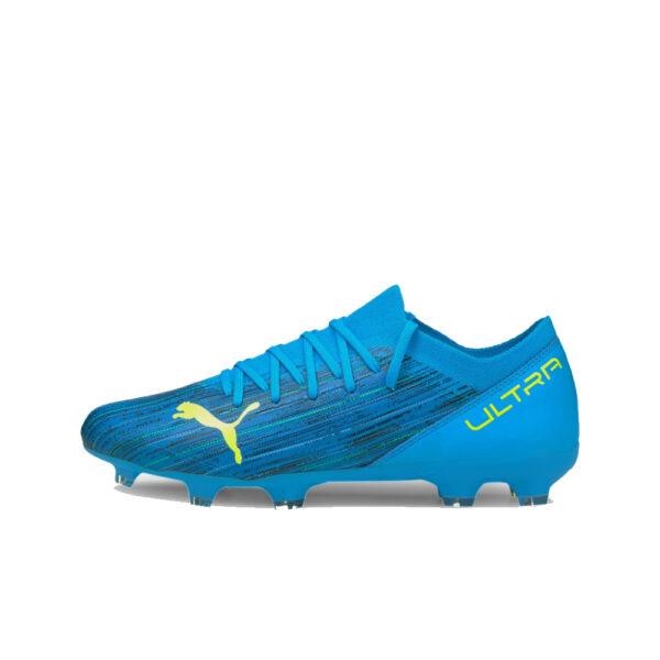 Puma Ultra 3.2 FG/AG - Energy Blue/Yellow Alert image 1 | 10630001 | Global Soccerstore