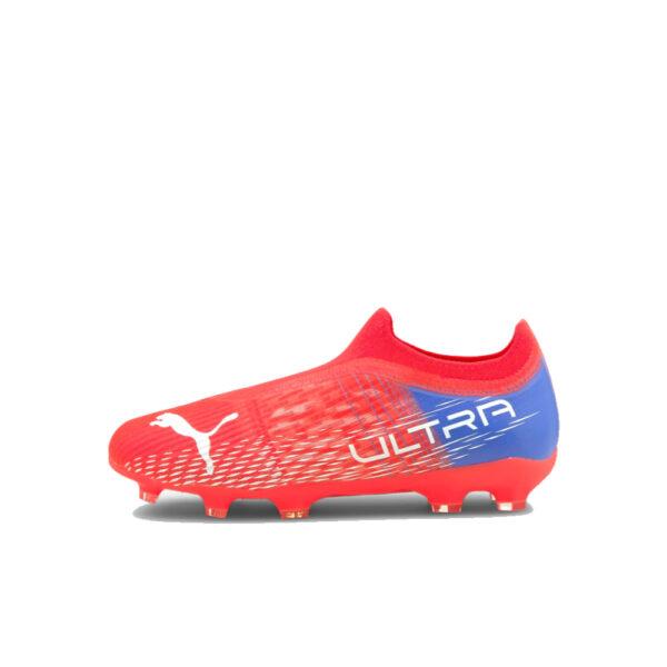 Jr Puma Ultra 3.3 FG/AG - Sunblaze/Puma White/Bluemazing image 1 | 106529-01 | Global Soccerstore