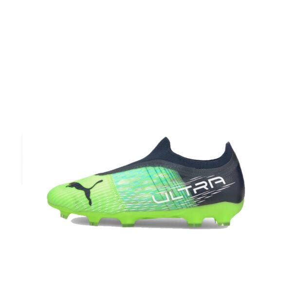 Jr Puma Ultra 3.3 FG/AG - Green Glare/Elektro Aqua/Spellbound image 1   106529-03   Global Soccerstore
