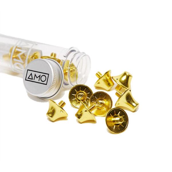 12 AMO Performance Studs (10x13mm) - Gold image 1 | 12STULGOLD | Global Soccerstore