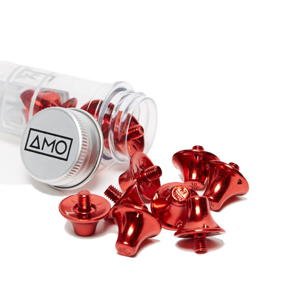 12 AMO Performance Studs (10x13mm) - Red image 1 | 12STULRED | Global Soccerstore