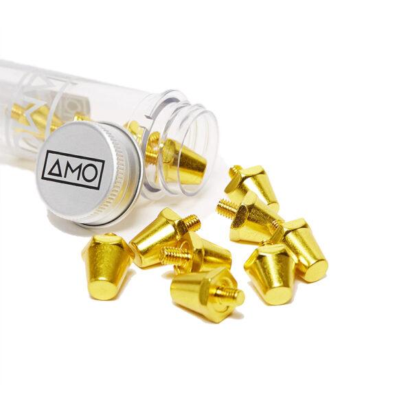 13 AMO Pro Studs (13x15mm) - Gold image 1   12STUXLGOLD   Global Soccerstore