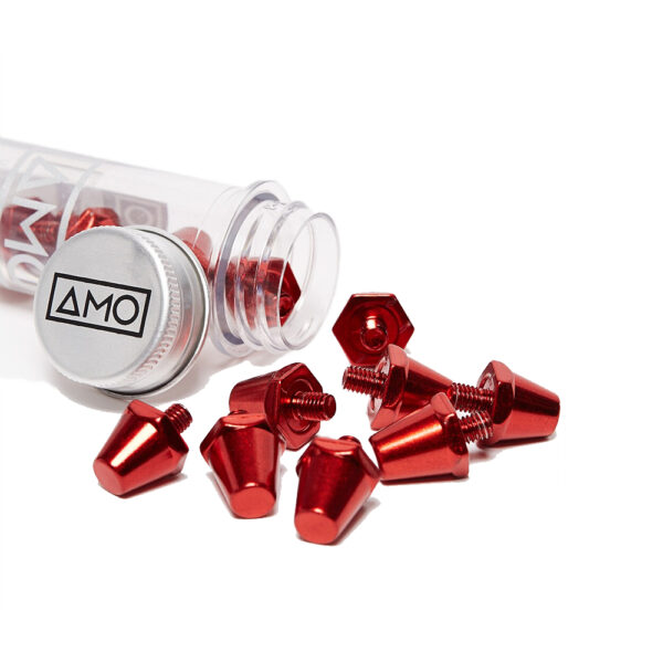 14 AMO Pro Studs (13x15mm) - Red image 1 | 12STUXLRED | Global Soccerstore