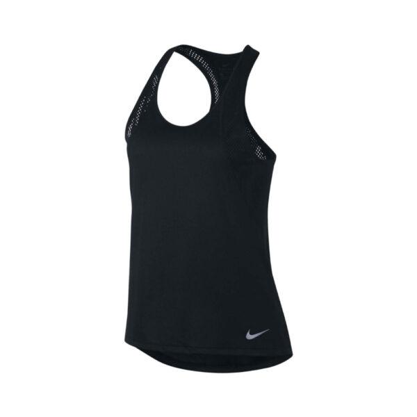 Women's Nike Run Tank Top - Black/Black/(Reflective Silver) image 1 | 890351-010 | Global Soccerstore