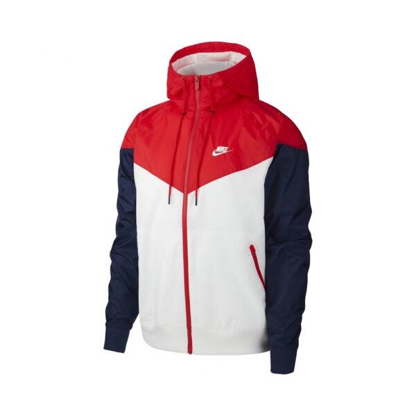 Nike Sportswear Windrunner - White/University Red/Midnight Navy/White image 1   AR2191-104   Global Soccerstore