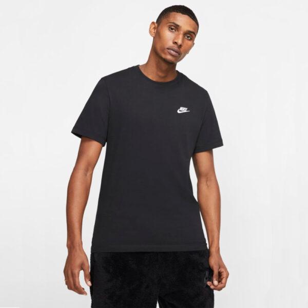 Nike Sportswear Club Tee - Black/(White) image 1 | AR4997-013 | Global Soccerstore