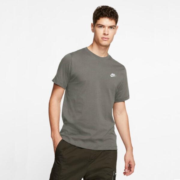 Nike Sportswear Club Tee - Light Army/(White) image 1 | AR4997-320 | Global Soccerstore