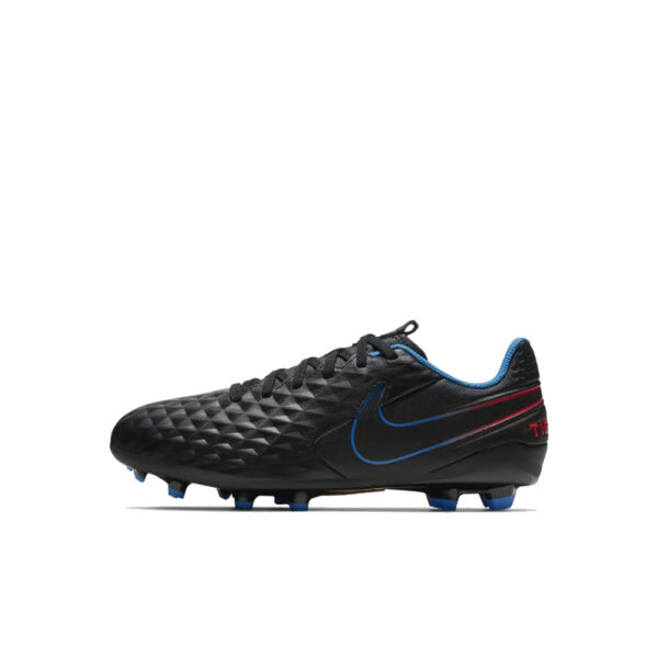 Jr Nike Tiempo Legend 8 Academy FG/MG - Black/Siren Red/Light Photo Blue/Cyber image 1 | AT5732-090 | Global Soccerstore