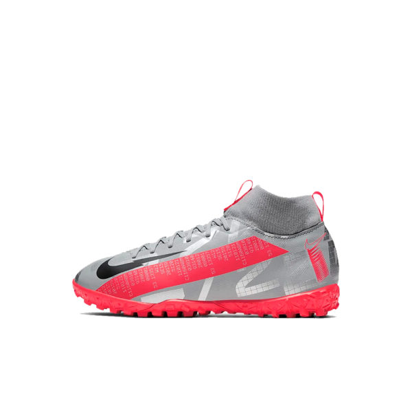 JR Nike Mercurial Superfly 7 Academy TF - Bomber Grey/Crimson/Black image 1 | AT8143-906 | Global Soccerstore