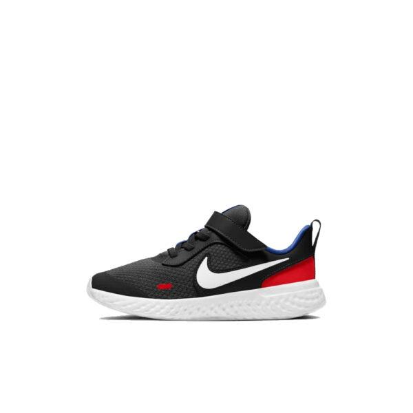 Kids' Nike Revolution 5 PSV - Black/White-University Red-Game Royal image 1 | BQ5672-020 | Global Soccerstore