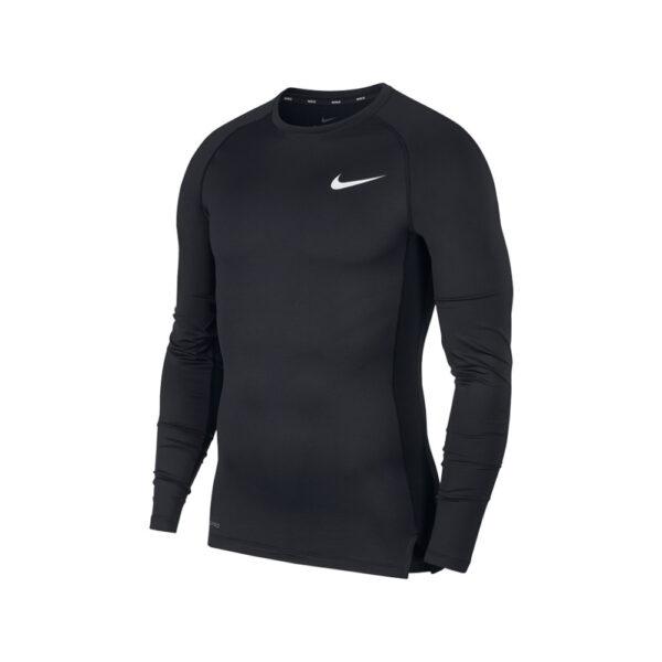Nike Pro Long Sleeve Top - Black/White image 1 | BV5588-010 | Global Soccerstore