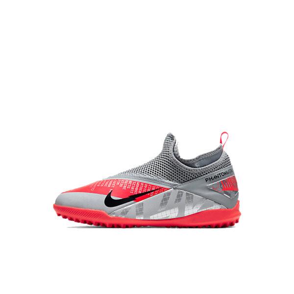 JR Nike Phantom Vision 2 Academy DF TF - Bomber Grey/Crimson/Black image 1 | CD4078-906 | Global Soccerstore