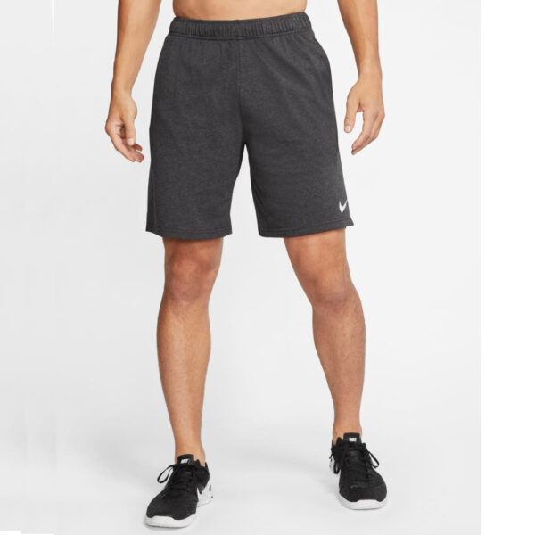 Nike Dri-Fit Cotton Shorts - Black Heather/(White) image 1 | CJ2044-032 | Global Soccerstore