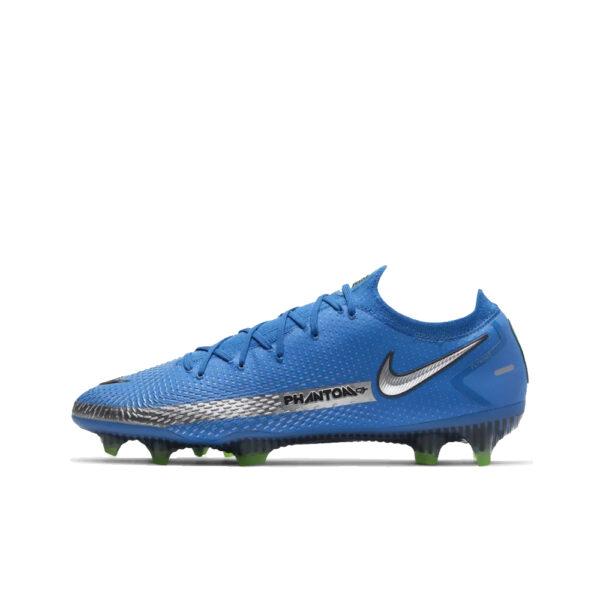 Nike Phantom GT Elite FG - Photo Blue/Metallic Silver/Rage Green/Black image 1   CK8439-400   Global Soccerstore