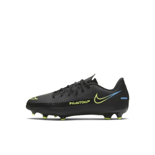 Jr Nike Phantom GT Academy FG/MG - Black/Cyber/Light Photo Blue image 1 | CK8476-090 | Global Soccerstore