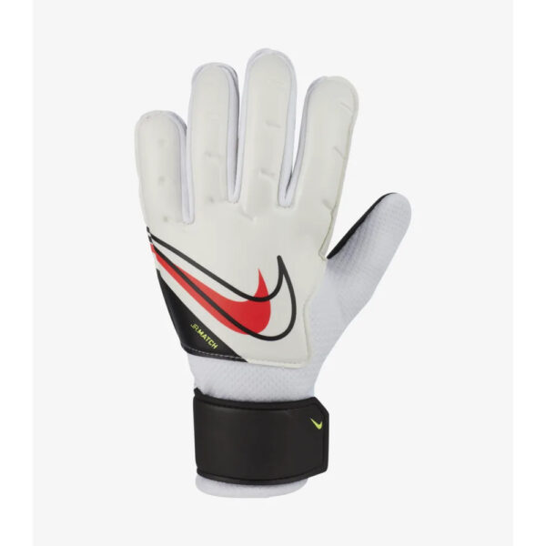 Jr Nike GK Match - FA20 - White/Black/(Bright Crimson) image 1 | CQ7795-101 | Global Soccerstore