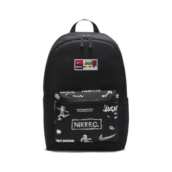 Nike FC Backpack - Black/White/(White) image 1 | CU8164-010 | Global Soccerstore
