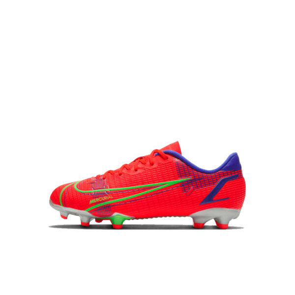 Jr Nike Mercurial Vapor 14 Academy FG/MG - Bright Crimson/Indigo Burst/Rage Green image 1   CV0811-600   Global Soccerstore