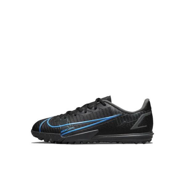 Jr Nike Mercurial Vapor 14 Academy TF - Black/Iron Grey/University Blue image 1   CV0822-004   Global Soccerstore