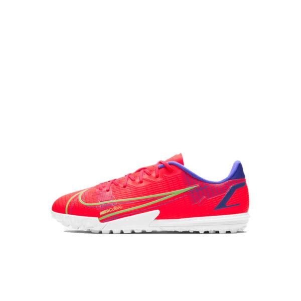 Jr Nike Mercurial Vapor 14 Academy TF - Bright Crimson/Indigo Burst/Rage Green image 1 | CV0822-600 | Global Soccerstore