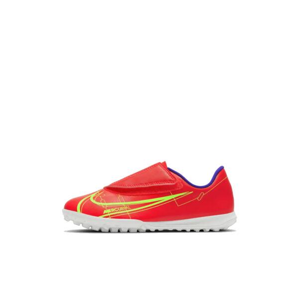 Jr Nike Mercurial Vapor 14 Club TF PS (V) - Bright Crimson/Indigo Burst/Rage Green image 1 | CV0839-600 | Global Soccerstore