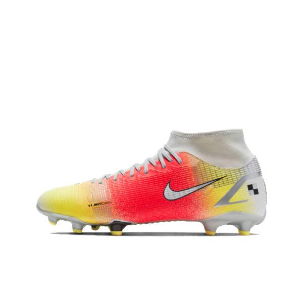 Nike Mercurial Superfly 8 Academy MDS FG/MG - White/Bright Mango/Metallic Silver image 1 | CV0948-108 | Global Soccerstore