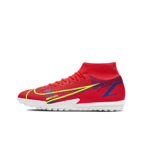 Nike Mercurial Superfly 8 Academy TF - Bright Crimson/Indigo Burst/Rage Green image 1 | CV0953-600 | Global Soccerstore
