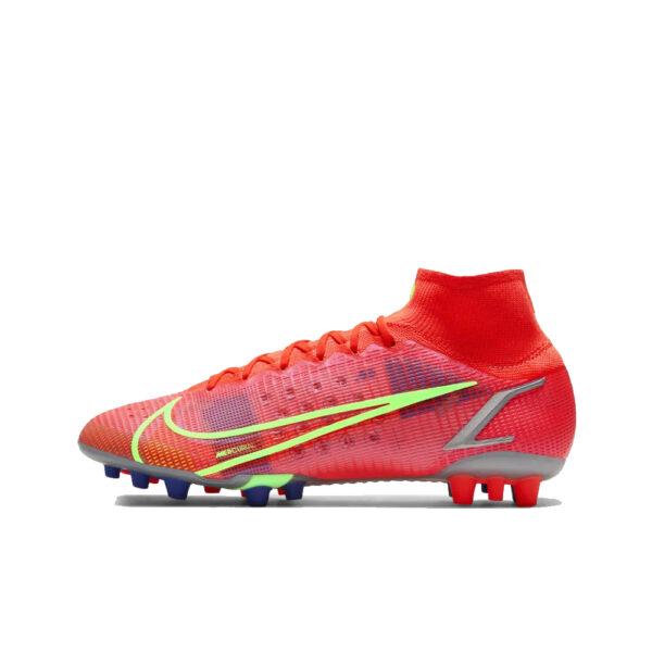 Nike Mercurial Superfly 8 Elite AG - Bright Crimson/Indigo Burst/Rage Green image 1 | CV0956-600 | Global Soccerstore