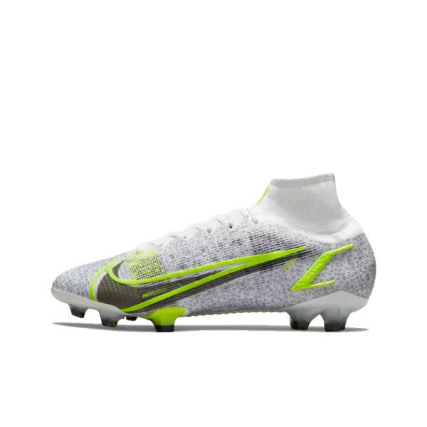 Nike Mercurial Superfly 8 Elite FG - White/Black-Mtlc-Silver-Volt image 1 | CV0958-107 | Global Soccerstore