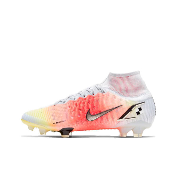 Nike Mercurial Superfly 8 Elite MDS FG - White/Pure Platinum/Bright Mango/Black image 1 | CV0959-108 | Global Soccerstore
