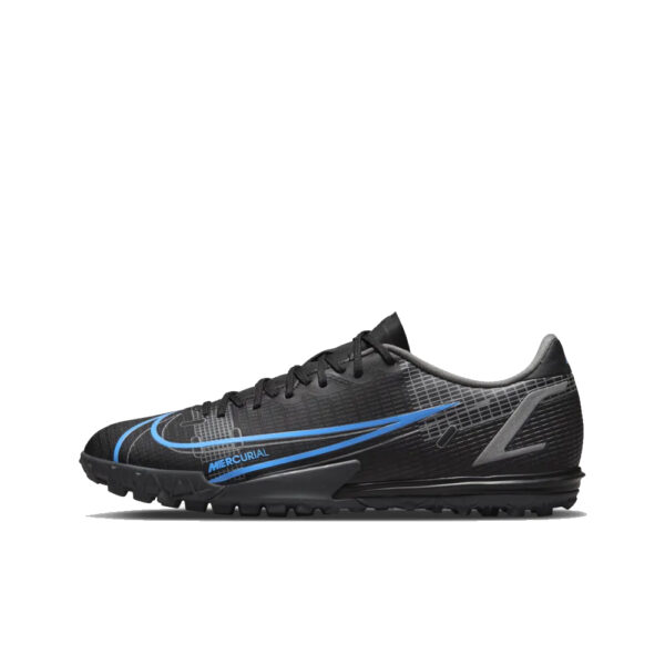Nike Mercurial Vapor 14 Academy TF - Black/Iron Grey/University Blue image 1   CV0978-004   Global Soccerstore