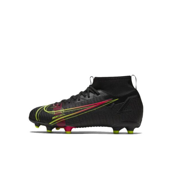 Jr Nike Mercurial Superfly 8 Academy FG/MG - Black/Cyber/Rage Green/Siren Red image 1 | CV1127-090 | Global Soccerstore