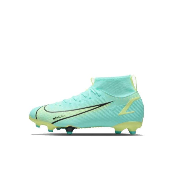 Jr Nike Mercurial Superfly 8 Academy FG/MG - Dynamic Turq/Lime Glow-Off Noir image 1   CV1127-403   Global Soccerstore