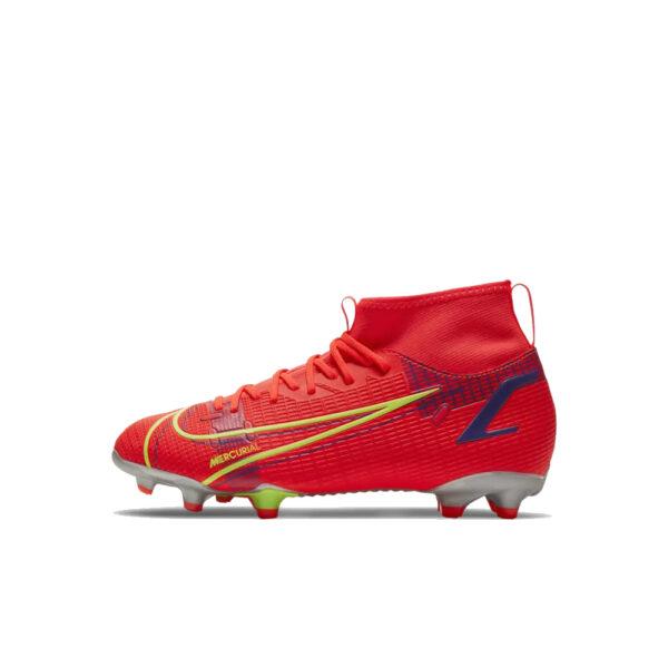 Jr Nike Mercurial Superfly 8 Academy FG/MG - Bright Crimson/Indigo Burst/Rage Green image 1 | CV1127-600 | Global Soccerstore