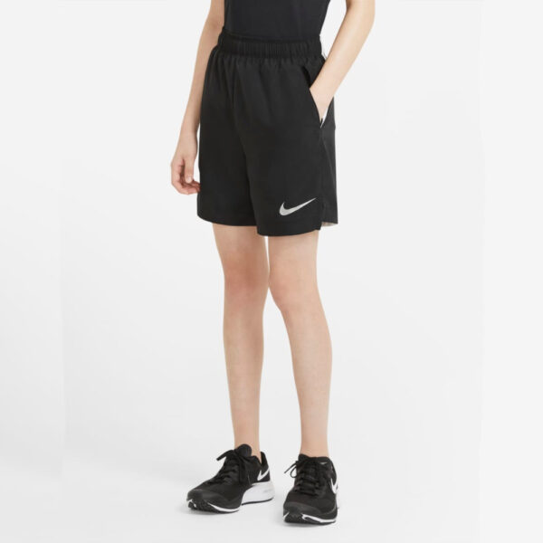 Kid's Nike Woven Shorts - Black/White/(Reflect Silver) image 1 | CV9308-011 | Global Soccerstore