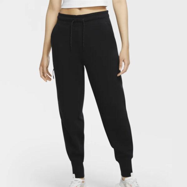 Women's Nike Sportswear Tech Fleece Essential Pants - Black/Black image 1 | CW4292-010 | Global Soccerstore