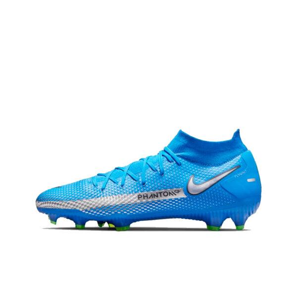 Nike Phantom GT Pro DF FG - Photo Blue/Metallic Silver/Rage Green/Black image 1 | CW6600-400 | Global Soccerstore