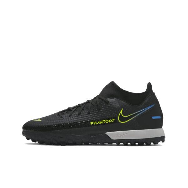 Nike Phantom GT Academy DF TF - Black/Cyber/Light Photo Blue image 1   CW6666-090   Global Soccerstore