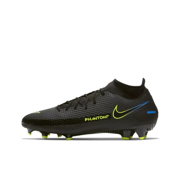 Nike Phantom GT Academy DF FG/MG - Black/Cyber/Light Photo Blue image 1 | CW6667-090 | Global Soccerstore