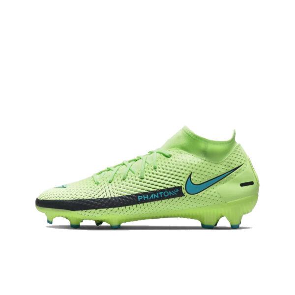 Nike Phantom GT Academy DF FG/MG - Lime Glow/Aquamarine-Off Noir image 1 | CW6667-303 | Global Soccerstore