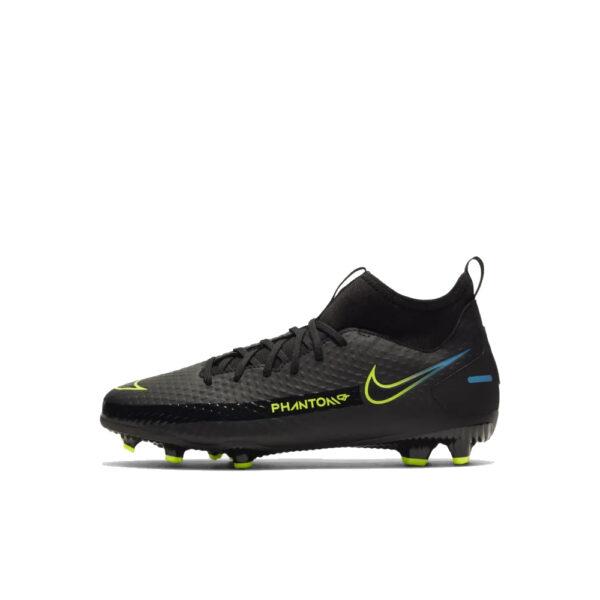 Jr Nike Phantom GT Academy DF FG/MG - Black/Cyber/Light Photo Blue image 1 | CW6694-090 | Global Soccerstore