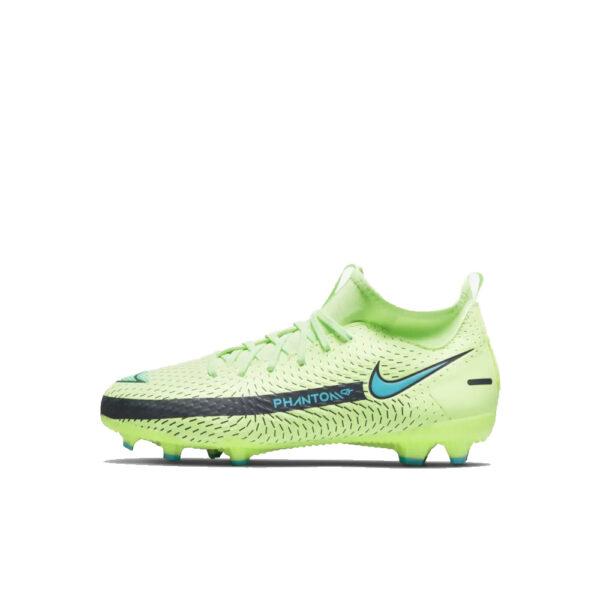 Jr Nike Phantom GT Academy DF FG/MG - Lime Glow/Aquamarine-Off Noir image 1 | CW6694-303 | Global Soccerstore