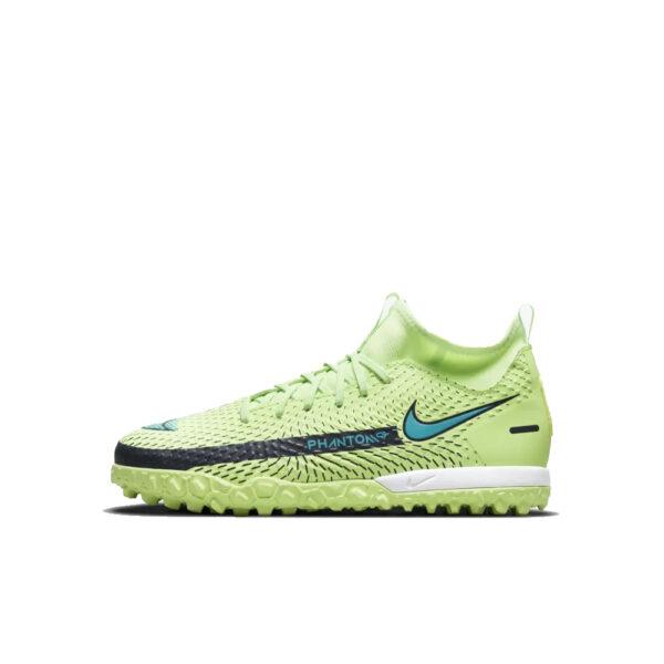 Jr Nike Phantom GT Academy DF TF - Lime Glow/Aquamarine-Off Noir image 1 | CW6695-303 | Global Soccerstore