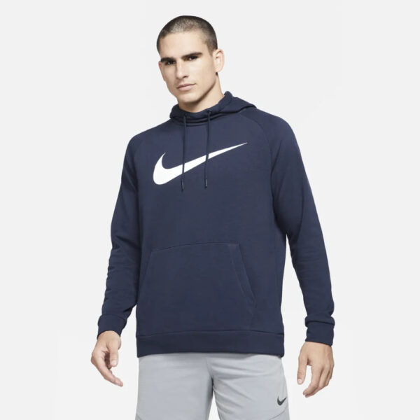 Nike Dri-Fit Pullover Training Hoodie - Obsidian/(White) image 1 | CZ2425-451 | Global Soccerstore
