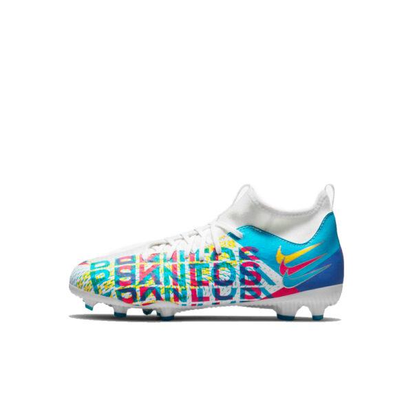 Jr Nike Phantom GT Academy DF 3D FG/MG - Chlorine Blue/Pink Blast-Yellow-White-Mtlc-Silver image 1 | CZ3432-467 | Global Soccerstore