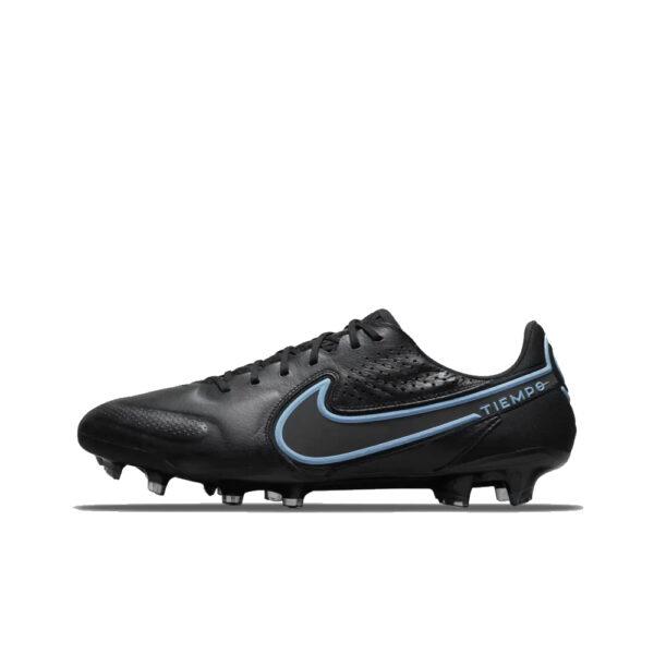 Nike Tiempo Legend 9 Elite FG - Black/Iron Grey/University Blue image 1   CZ8482-004   Global Soccerstore