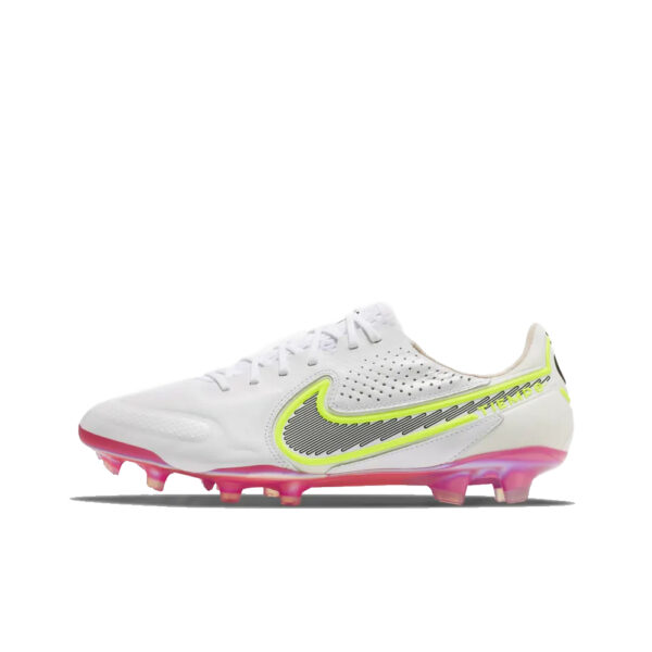 Nike Tiempo Legend 9 Elite FG - White/Black/Bright Crimson/Pink Blast image 1 | CZ8482-121 | Global Soccerstore
