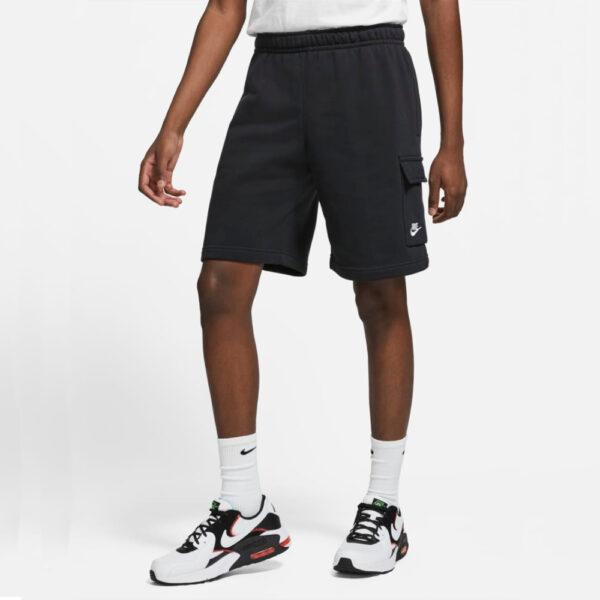 Nike Sportswear Club Cargo Shorts - Black/Black/(White) image 1   CZ9956-010   Global Soccerstore