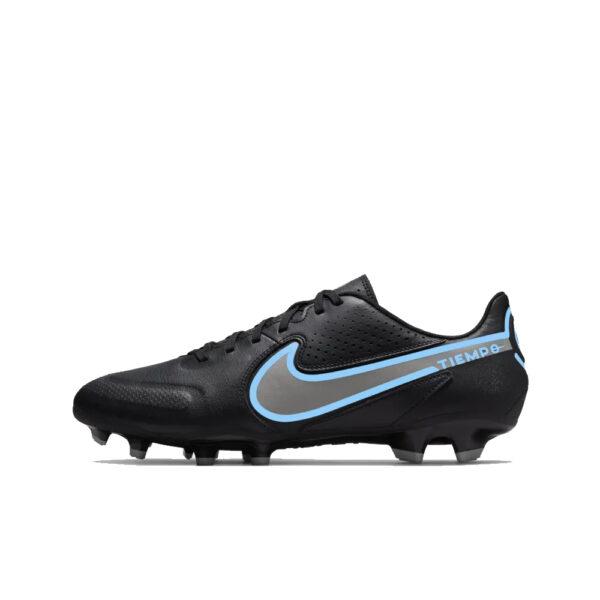 Nike Tiempo Legend 9 Academy FG/MG - Black/Iron Grey/University Blue image 1   DA1174-004   Global Soccerstore