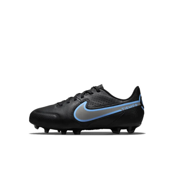 Jr Nike Tiempo Legend 9 Academy FG/MG - Black/Iron Grey/University Blue image 1 | DA1333-004 | Global Soccerstore